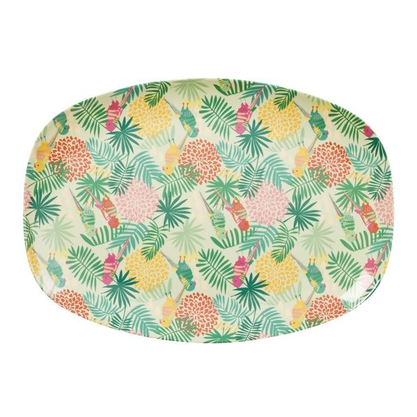 Tropical Print, Tablett aus Melamin von Rice