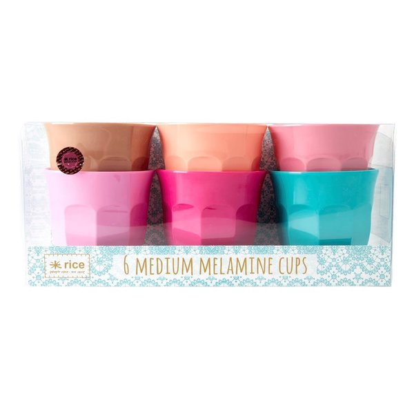 "Rice DK, 6er Set Medium Melaminbecher ""LBC Colors"""