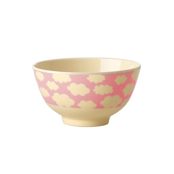 Cloud Print Pink, Small Melamine Bowl
