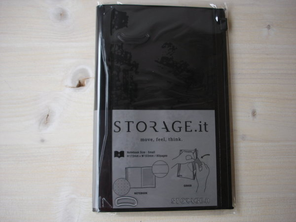 Storage It, schwarz, Format S Notizbuch mit Zipperfach, Marks