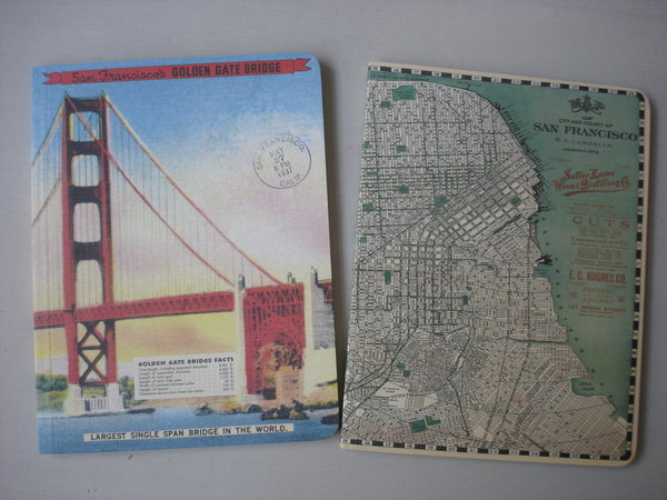 San Francisco, 2 Notizhefte von Cavallini Papers